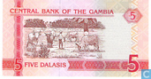 Bankbiljetten - Central Bank of the Gambia - Gambia 5 Dalasis
