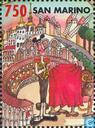 Postage Stamps - San Marino - The village of Europe