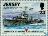 Timbres-poste - Jersey - Libération 50 années