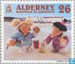 Timbres-poste - Aurigny - Wombles