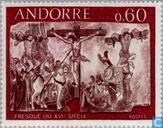 Postzegels - Andorra - Frans - Fresco's