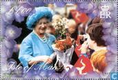 Postage Stamps - Man - Queen Mother- 100e verjaardag