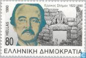 Postzegels - Griekenland - 100e sterfdag Heinrich Schliemann