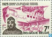 Postage Stamps - Belgium [BEL] - First flight Brussels-Kinshasa