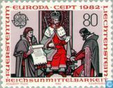 Postage Stamps - Liechtenstein - Europa – Historical events