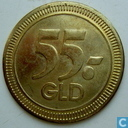 "Reclamepenning Lecturama ""55 GLD"""