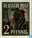 Timbres-poste - Berlin - empreinte rouge