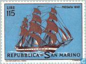 Postzegels - San Marino - Zeilschepen