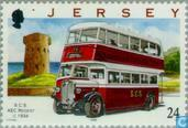 Timbres-poste - Jersey - Autobus