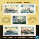 Postage Stamps - Guernsey - Shipping Line 1889-1989