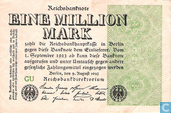 Banknotes - Reichsbanknote - Germany 1 Million Mark