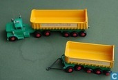 Model cars - Matchbox - Dodge Tractor Unit & Twin Fruehauf Tipping Trailers
