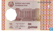 Billets de banque - National Bank of Tajikistan - Dirame Tadjikistan 1