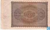 Billets de banque - Reichsbanknote - 100.000 Mark allemand