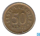 Coins - Estonia - Estonia 50 senti 1992