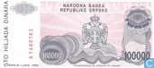 Billets de banque - Srpska - 1993 Banja Luka Second Issue - Srpska 100.000 Dinara 1993