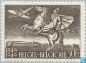 Timbres-poste - Belgique [BEL] - Anniversaire du timbre 1849-1949