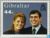 Postage Stamps - Gibraltar - Prince Andrew and Sarah, Wedding