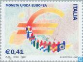 Timbres-poste - Italie [ITA] - introduction de l'euro