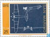 Timbres-poste - Saint-Marin - Aéronefs