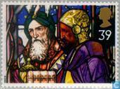 Briefmarken - Großbritannien [GBR] - Weihnachten-Buntglas Windows