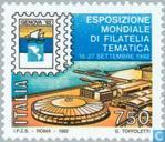 Postage Stamps - Italy [ITA] - International Stamp Exhibition GENOVA ' 92