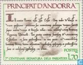 Postzegels - Andorra - Frans - Paréage- verdrag 700 jaar