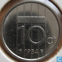 Coins - the Netherlands - Netherlands 10 cents 1984