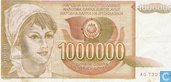 Billets de banque - Yougoslavie - 1985-1989 Issue - Yougoslavie 1 Million Dinara 1989