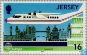 Briefmarken - Jersey - Europa – Transport und Kommunikation