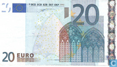 Banknotes - Eurozone - 2002 'Signature W.F. Duisenberg' Issue - Eurozone 20 Euro V-M-Du