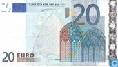 Zone Euro 20 Euro V-M-Du