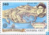 Postzegels - Griekenland - Europa – Ontdekking van Amerika