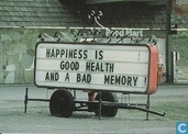 S000016 - Happiness is good health and a bad memory!