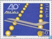Postzegels - Italië [ITA] - Alitalia 40 jaar
