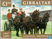 Postage Stamps - Gibraltar - Queen Elizabeth II-Wedding Anniversary
