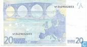 Banknotes - Duisenberg, printed at Fabrica Nacional de Moneda y Timbre (Spain - Madrid) in order of Spanje. - 20 euro MVD