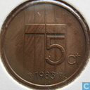 Coins - the Netherlands - Netherlands 5 cents 1983