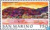 Postage Stamps - San Marino - Famous world-Hong Kong