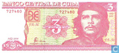 Billets de banque - Banco Central de Cuba - Cuba 3 Pesos