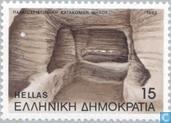Postzegels - Griekenland - Catacomben Milos
