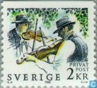Postage Stamps - Sweden [SWE] - Midsummer celebration in Sweden