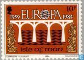 Postzegels - Man - Europa – Brug