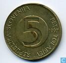 Coins - Slovenia - Slovenia 5 tolarjev 1997