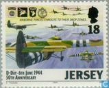 Postage Stamps - Jersey - Normandy invasion 50 years
