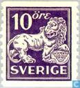 Postzegels - Zweden [SWE] - Staande leeuw