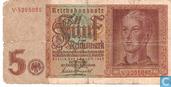 Banknotes - Reichsbanknote - Germany 5 Reichsmark