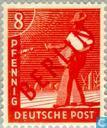 Postage Stamps - Berlin - Red imprint