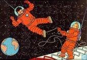 """Kartonnen puzzle """"Kuifje op de maan"""""""