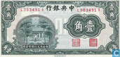 Chine 1 Chiao 10 Cents